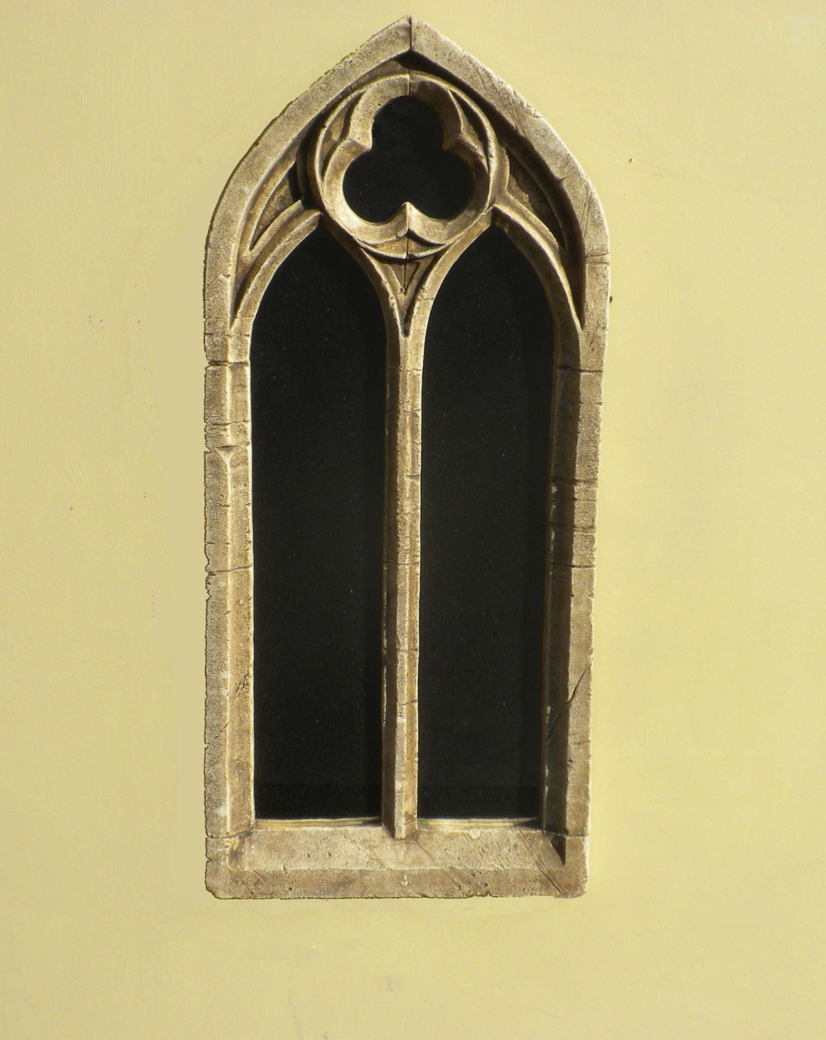 double arch gothic church window frame mirrorvintage