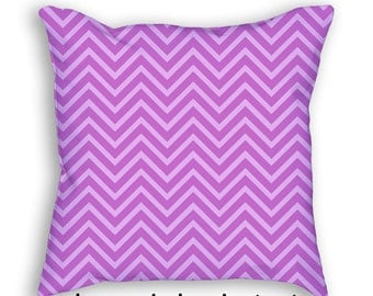 Purple Chevron Pillow Cover and Insert Zig Zag Throw Pillow Decorative Acent Art Nursery Pillow cushion Home Decor Baby Shower Gift 4013