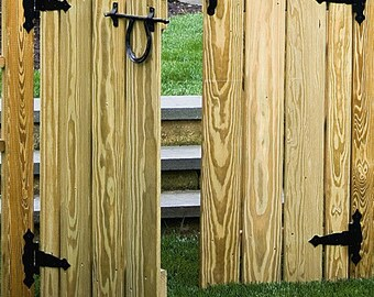 Pressure Treated Pine *UNFINISHED* Arbor Gates - Various Sizes - Amish Made in the USA