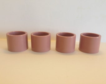 Napkin Rings Set of Four Pink Vintage Napkin Rings / Holders