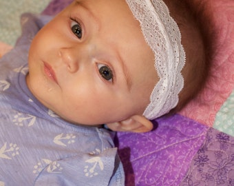 Adorable, Soft, Stretch, Lace Baby Headband