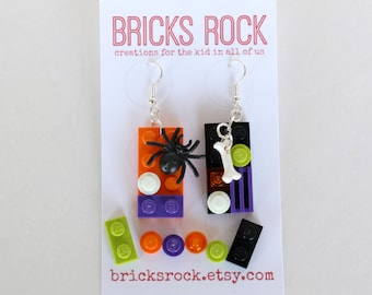 Halloween 2 x 4 LEGO® Plate Earrings - LEGO® Jewelry
