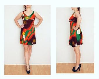 Vintage dress women M 70s