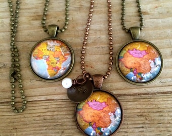 Hope--> {country pendant necklace}