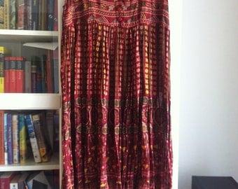 Boho - Beautiful Light Summer Indian Maxi Dress Size M