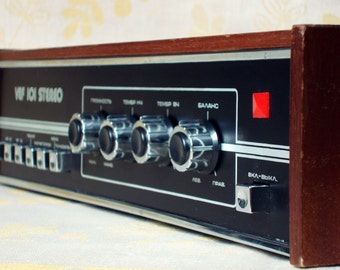 Vintage Amplifier VEF 101 STEREO - Rare Soviet Russian Integrated Amplifier