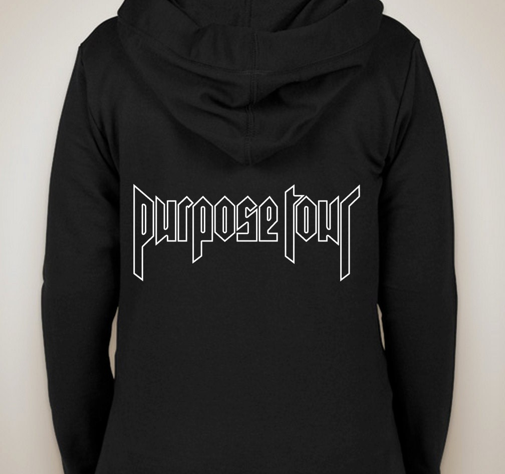 justin bieber purpose tour outline zip up hoodie by. Black Bedroom Furniture Sets. Home Design Ideas
