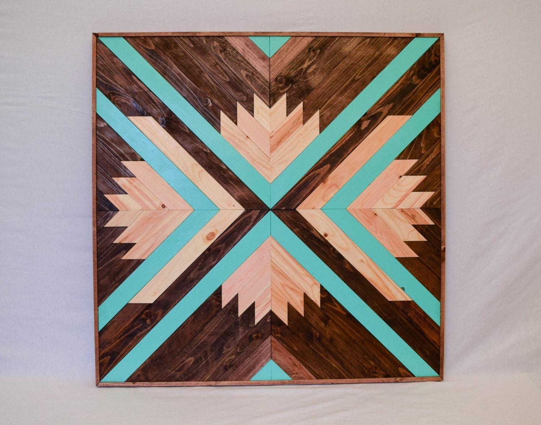 Wood Wall Art Wooden Wall Art Geometric by ...