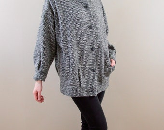 40% OFF! With Code - 1970s Vintage Forecaster Neutral Tweed Coat - Brown Baker Buttons, Size Medium to Large