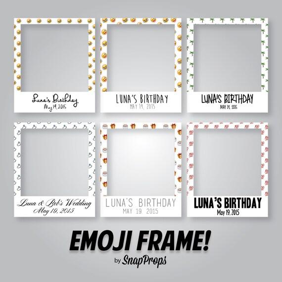 Favoloso EMOJI Pattern personalizzati Polaroid stile cornice foto Prop EM21