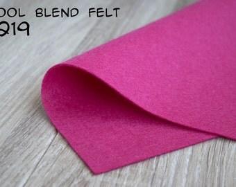 Wool Blend Felt Pink
