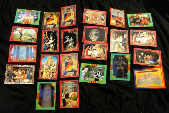 SAVE 25% WITH CODE SAVE25 Vintage lot of 20+ Power Ranger Collector's Cards 1994 Saban Bandai 1995 Series 1 and 2 Power Foil/Mighty Morphin
