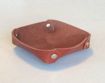 mini leather valet tray catchall guitar pick tray - Valet Tray
