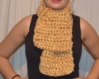 Scarf - brown - yellow