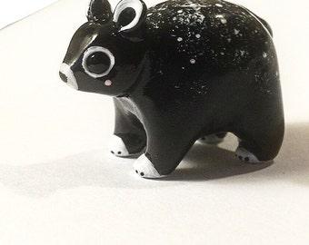 OOAK Polymer Clay Totem Animal Cosmic Bear Figurine