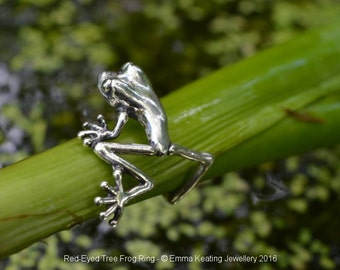 Sterling Silver Ring: Tree Frog