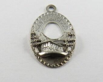 Golden Gate Bridge San Francisco Sterling Silver Charm or Pendant.