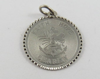Faith Hope and Charity Sterling Silver Charm or Pendant.