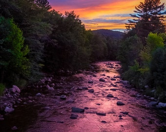 Sunset Over the Gale River - Sugar Hill, New Hampshire - White Mountains - Landscape Photography Print