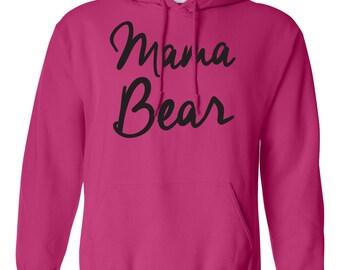 Mama Bear. Women's Hooded Sweatshirt. Southern Element Apparel. Southern Sweatshirt/Hoodie