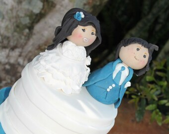 1x Bride & Groom Set Wedding Edible Fondant Cake Toppers 6-9cm