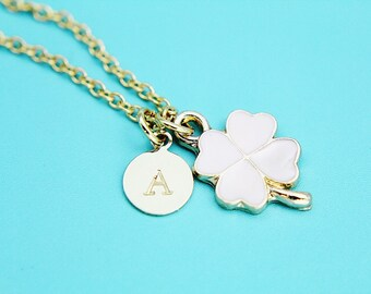 Gold Clover Charm Necklace, Gold Clover Necklace, Clover Necklace, Gold Necklace, Gifts Under 30, Gifts Ideas, Gifts for Mom, Gifts for Her,