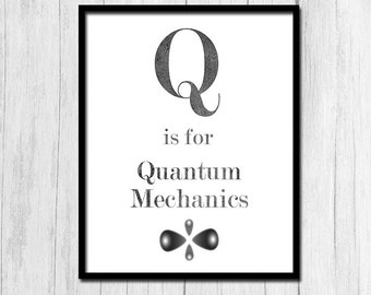 Quantum Physics Poster Digital Download Quantum Mechanics Printable Gift for Physics Teacher Gift for Science Teacher Physics Gift Printable
