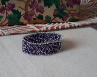 Purple peyote bracelet