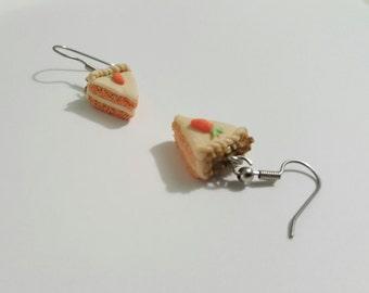 Easter Carrot Cake Earrings