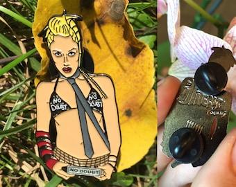 No Doubt Gwen Stefani Hat Pin Riot Fest