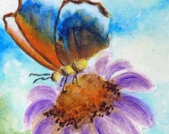 ACEO Cards, ACEO Art Print, Miniature Watercolor Print, Artist Trading Cards, Matted Miniature Art, ACEO Collectible Print,  Nature, Garden