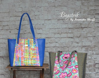 Everyday Tote - Bagstock Sewing Pattern, PDF sewing pattern