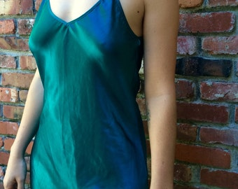 70s Satin Nightgown // Vintage Sleepwear // Size M