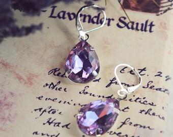 pale purple earrings for gift,1st anniversary gift for her,lavender earrings,lilac earrings,lavender jewelry,pink earrings,drop earings