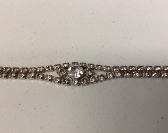 Vintage 1950's Rhinestone Bracelet