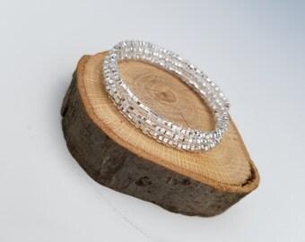 Sparkly Beaded Memory Wire Bracelet