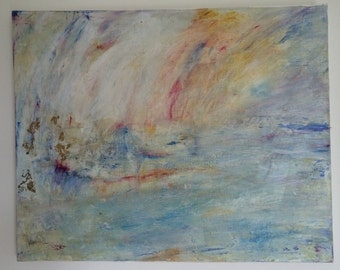 Mixed Media Original Abstract Seascape Painting