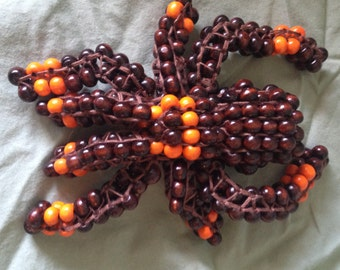 Brown and Orange Beaded Tarantula Spider