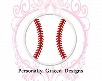 Instant Download Baseball Applique Machine Embroidery Design 4x4, 5x7, 6x10 5 SIZES, Baseball Applique, Baseball Design, Sports Embroidery
