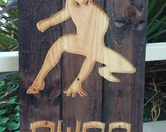 Personalized Spiderman carved pallet sign