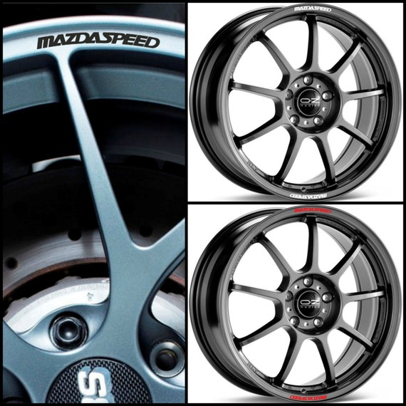 Mazda 6 Rims Wheels: X8 Mazda MAZDASPEED Rims Alloy Wheel Decals Stickers Curved Graphics Kit