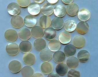 13mm White mother of Pearl round coins Lot