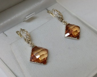 Earrings Crystal stones of Silver 925 SO215