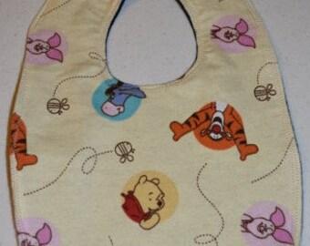 Winnie the Pooh & Friends flannel bib