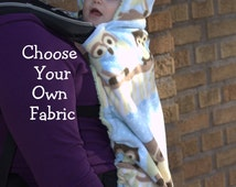 Front Baby Carrier Cover -Choose your own fabric, soft structure carrier cover