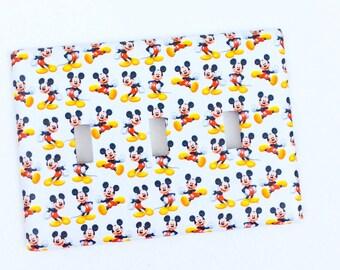 Mickey Light Switch Cover, Triple Light Switch ~ Mickey Bedroom, Mickey Bathroom, Disney Switch Cover, Mickey Kitchen ~ Nursery