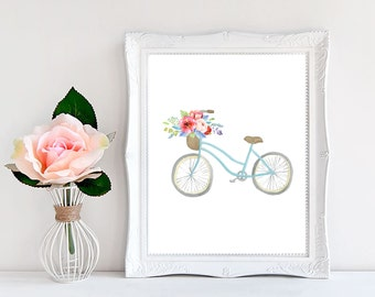 Bike Wall Art bicycle nursery | etsy