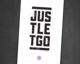 Fight Club - Just Let Go - Screen Printed Poster
