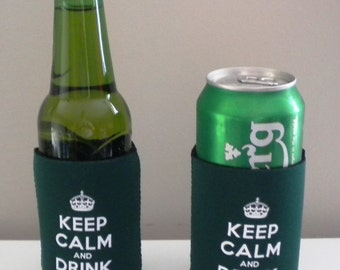 Keep Calm & Drink Lager Bottle/Can Cooler BUY 2 GET 1 FREE!
