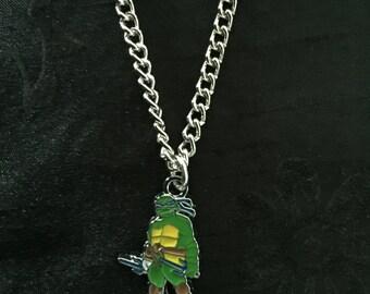 Silver Plated Teenage Mutant Ninja Turtles Necklace